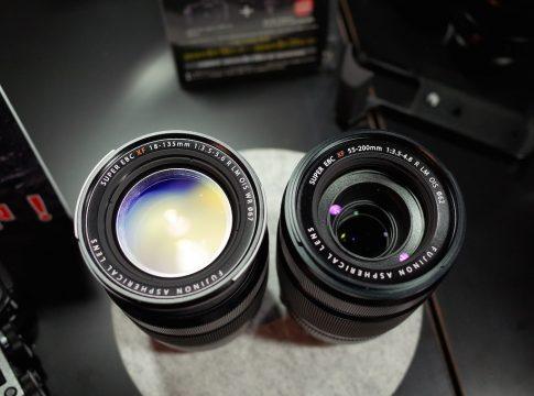 XF18-135mmとXF55-200を比較