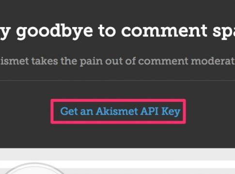 Akismet Api キーを取得